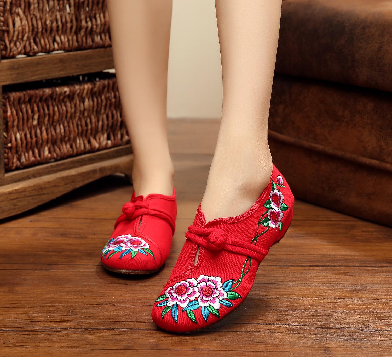 SMYXHX-10053 Ew Spring And Autumn Fashion Flowers Embroidered Leisure Black WomenS Flats Flattie Retro Shoes For Women<br><br>Aliexpress