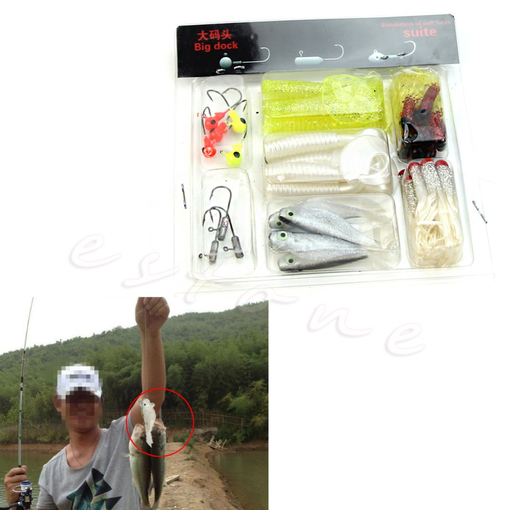 Free Shipping Fishing Lure Soft Baits Tackle Sets Kit Minnow Crank Pencil Vibration Popper New(China (Mainland))