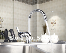 Construction Real Estate Kitchen Swivel Chrome Basin Sink Single Handle Deck Mounted Vanity Vessel MF-1030Mixer Tap Faucet