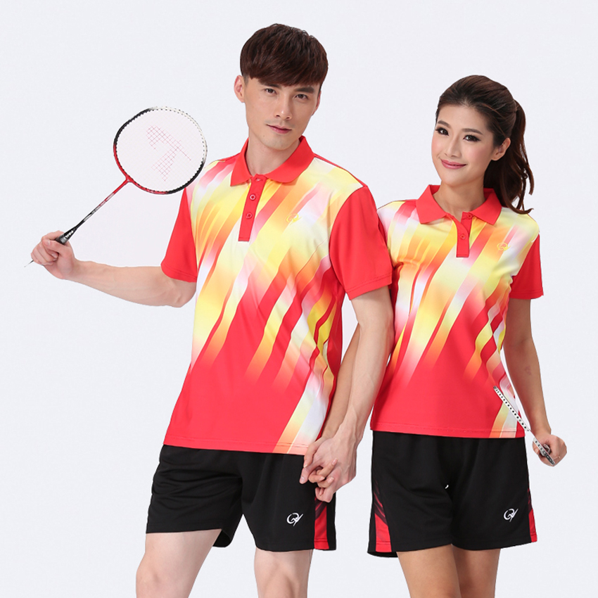 New Women Table Tennis Shirts and Shorts Customized Style Badminton Jersey Brand Suit(China (Mainland))