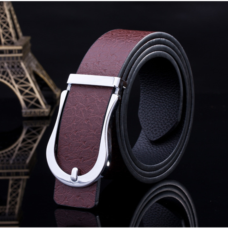 2016 New Designer Belts Men High Quality Genuine Gold And Silver Automatic Buckle Belt For Men cinto Fashion Cinto Masculino(China (Mainland))
