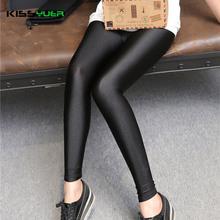 KISSyuer 2016 New arrival Shining sexy leggings lycra spandex leggings for lady Good elastic Women push up shiny leggings KL0067(China (Mainland))