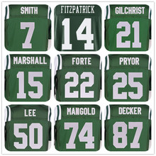 SexeMara MENS #14 Ryan Fitzpatrick#15 Brandon Marshall#22 Matt Forte#50 Darron Lee#74 Nick Mangold#87 Eric Decker# Jerseys(China (Mainland))