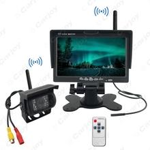 "Wireless 7"" LCD Monitor + Wireless IR Night Vision Rear View Camera for Bus Truck Backup DC12V-24V #CA3859(China (Mainland))"
