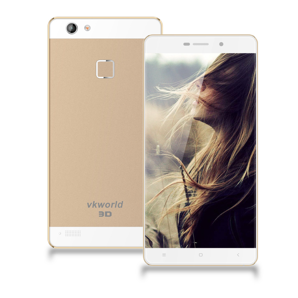 Vkworld Discovery S2 4G Smartphone FHD Naked-Eye 3D MTK6735 Android 5.1 2GB 16GB Gold(China (Mainland))