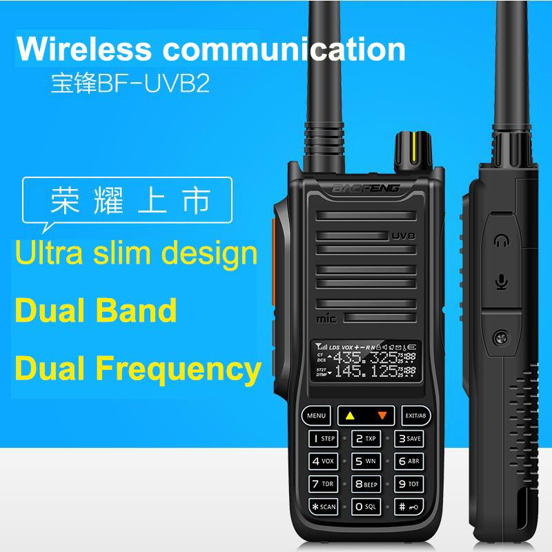 New Baofeng UV B2 Walkie Talkie 5-10W High Power Portable Two Way Radio VHF UHF Pofung UV Dual Band BF-UVB2 PTT Transceiver(China (Mainland))