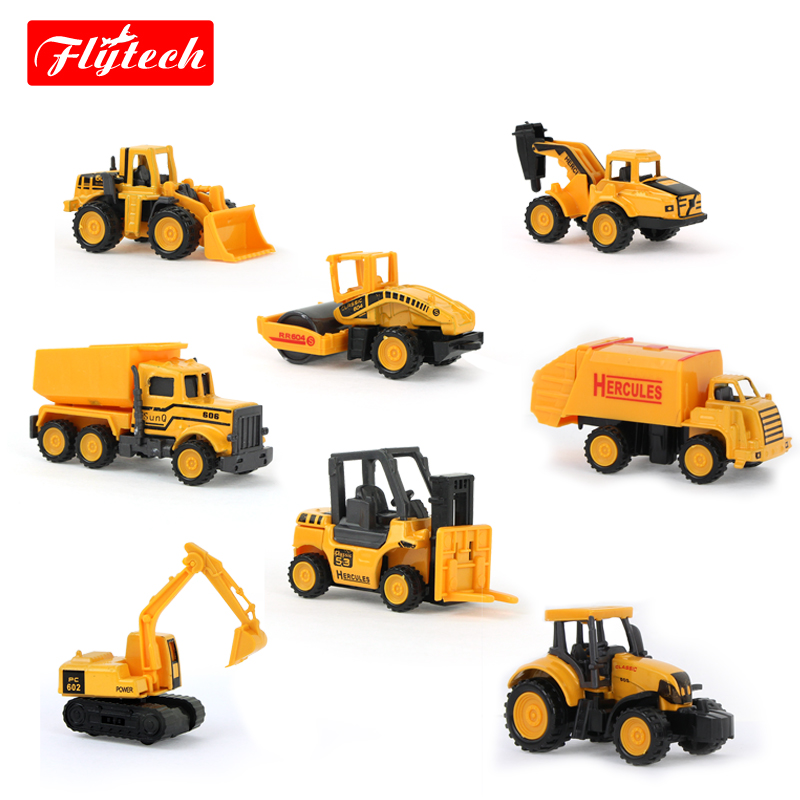 8 Types MiNi Alloy Construction Vehicle Engineering Car Excavator Dumpers Drill Soil Car Forkfit Artificial For Kid Boys(China (Mainland))
