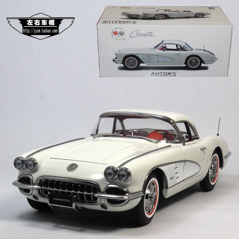 Brand New AUTOart 1/18 Scale Car Model Toys USA 1958 Chevrolet Corvette Vintage Diecast Metal Car Model Toy For Collection/Gift(China (Mainland))