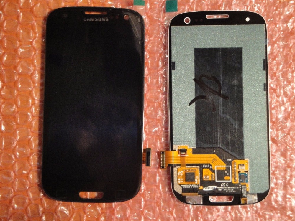High quality Black For Samsung Galaxy S3 III S3 i9300 i9305 i747 T999 Glass LCD +Touch Display Lens Digitizer Screen Assembly(China (Mainland))