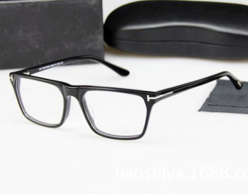 TOM for large size 58-17-145mm earwear frame acetate for men and women optical eyeglasses black glasses frame with case(China (Mainland))