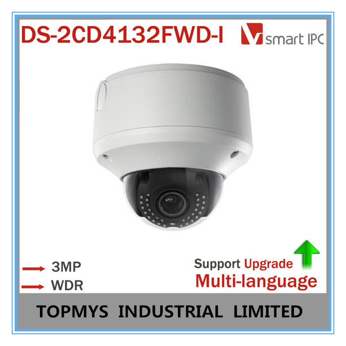 Multi-language CCTV Camera DS-2CD4132FWD-I 120dB WDR Dome Full HD VF Lens IR POE IP Camera Indoor Updatable Smart Detection(China (Mainland))