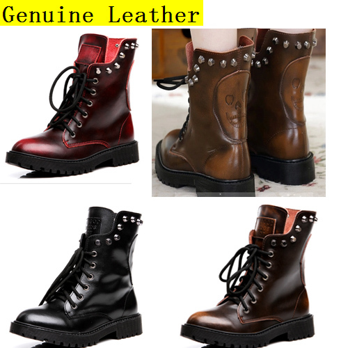 autumn winter boots for genuine leather
