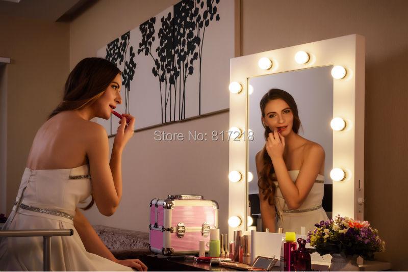 hollywood station de miroir de maquillage avec des lumi res professionnel maquillage vanit. Black Bedroom Furniture Sets. Home Design Ideas