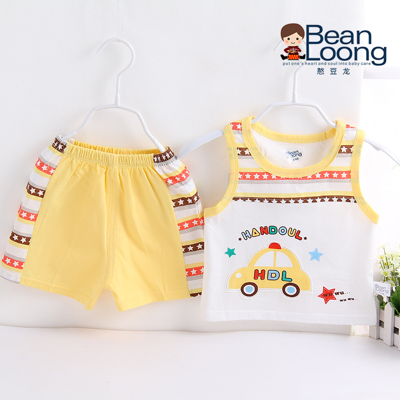 2016 New Summer Baby Vest Shorts Suit Infant Cotton Newborn Brand Boys Girls Clothing Set Cartoon 2 Pieces - Boutiques clothing store