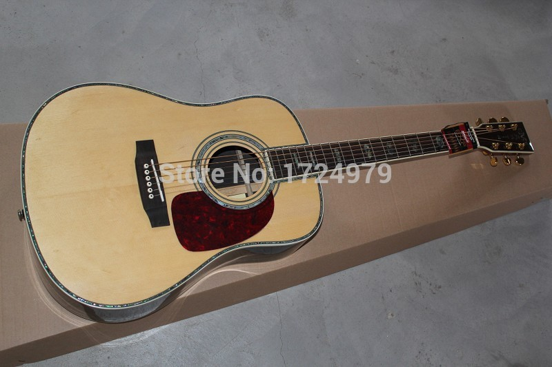 Best quality 2015 New Hot custom real Abalone Shell ebony guitar on sale, sound good, high quality acoustic guitar free shipping(China (Mainland))