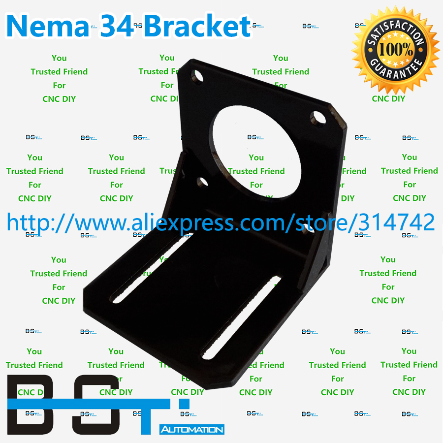 Free shipping 1pcs nema 34 stepper motor mounting bracket for Nema 34 stepper motor mount