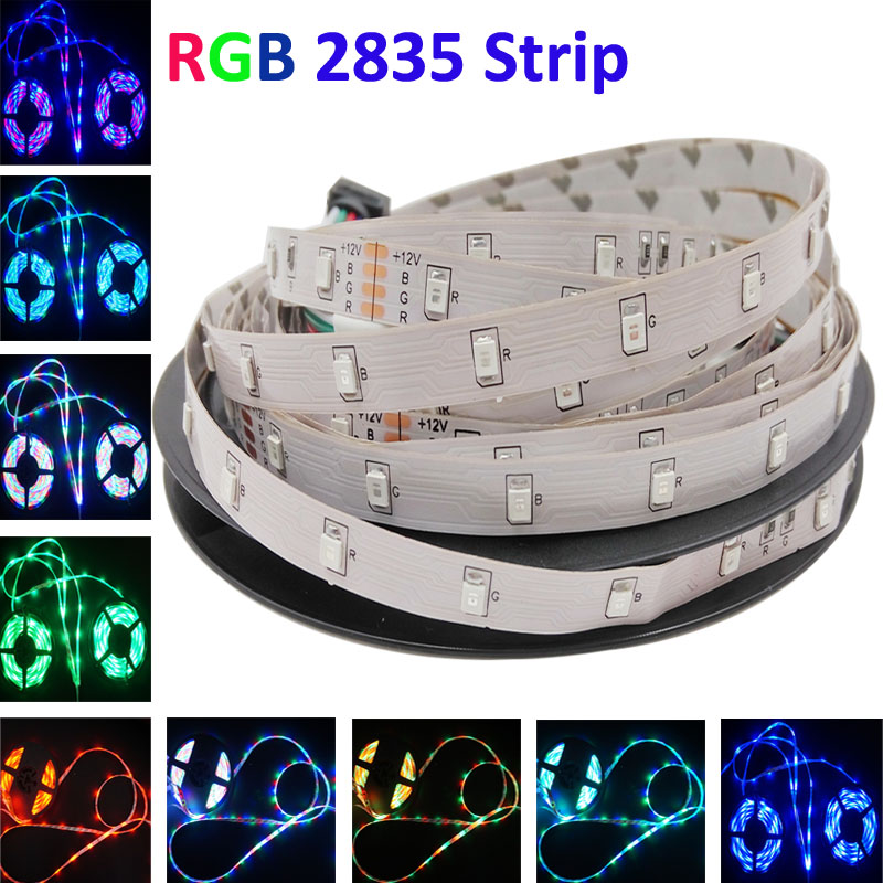 5m 3528 smd RGB led strip light DC12V 54leds/m fexible smd led light led tape ribbon ip20 no waterproof 5m/roll(China (Mainland))