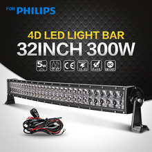 300W 32 inch Curved LED Light Bar – Work Light Driving Combo 12V 24V