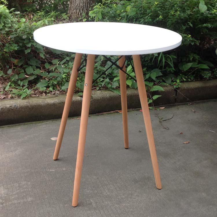 Bar table small balcony table coffee table wood d 60cm h for Table bar 85 cm