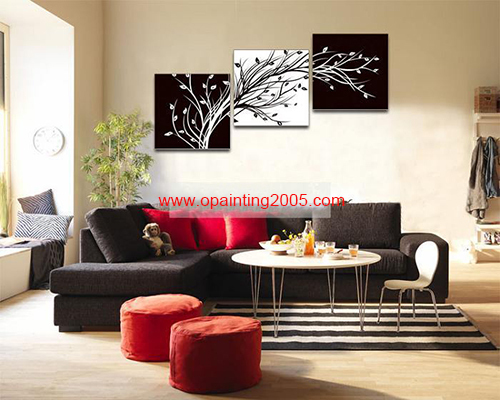 Handmade Painting Mural Decorative Oil Painting Abstract Collages Black&White Pachira Decorative Wall Art Panel Hotel&office(China (Mainland))