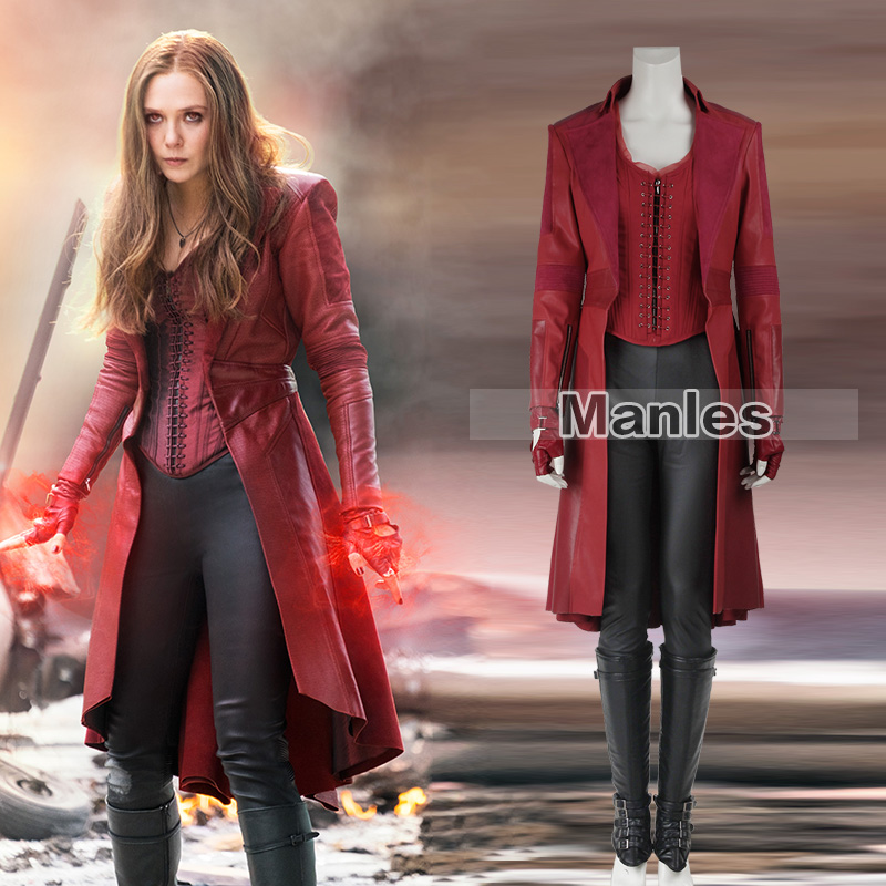 DFYM Avengers Age of Ultron Scarlet Witch Wanda Maximoff Cosplay Costume