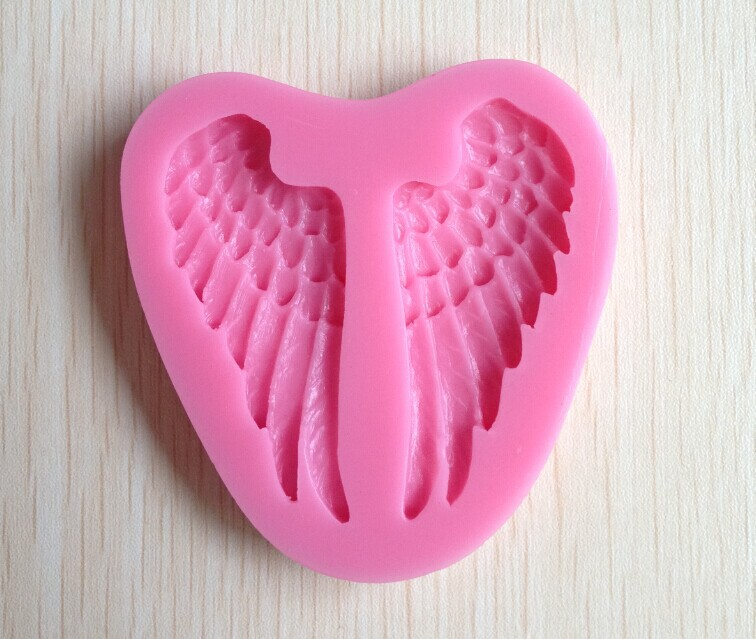 Beautiful Angel Wings shape Silicone 3D Mold Cookware Dining Bar Non-Stick Cake Decorating fondant soap mold--241(China (Mainland))
