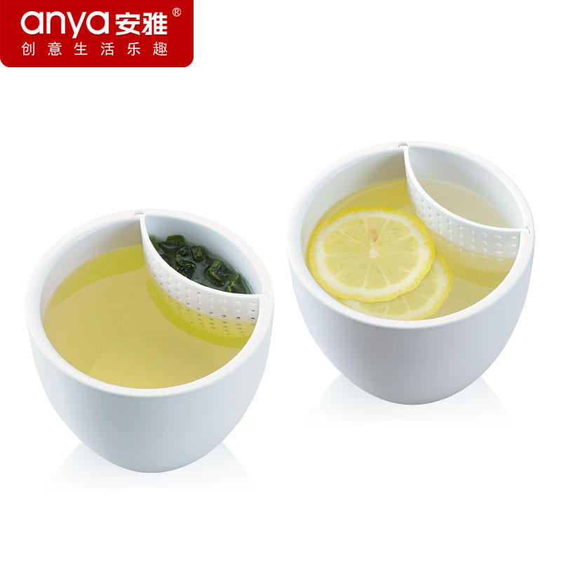 Factory Price Has Strainer Tea Cup Fashion Taza Office Ceramic Mugs Porcelain Cups Home Use Tazas 5A++ Caneca Free Shipping(China (Mainland))