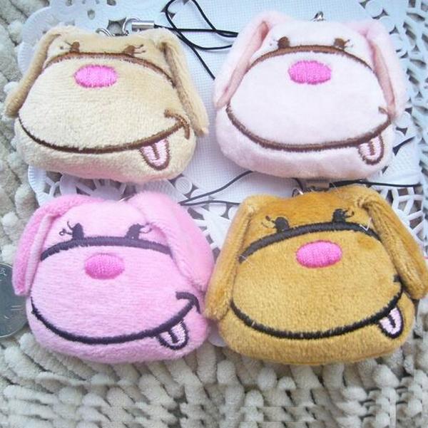 New Plush Toys Miniature 5cm Mini Kawaii Plush Kawaii Dog Head Stuffed Animal 1pcs/lot(China (Mainland))