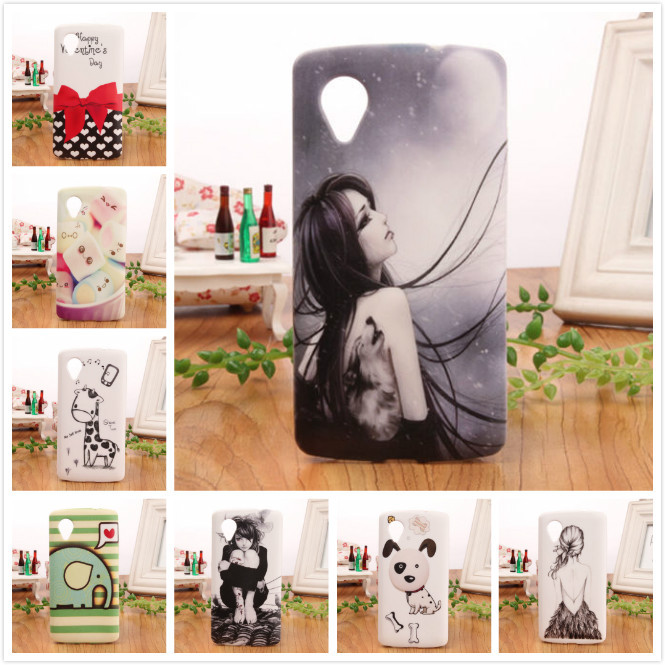 8 style selection colored drawing Design Accessory Rubber Protection TPU Silicone Skin Back Cover Case For LG Google Nexus 5 NEW(China (Mainland))