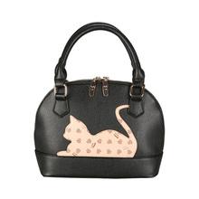 Tfree перо оригинальный малый cat простой моды оболочки сумки роскошные сумки женские сумки дизайнер мешок femme сумки на ремне sy713(China)