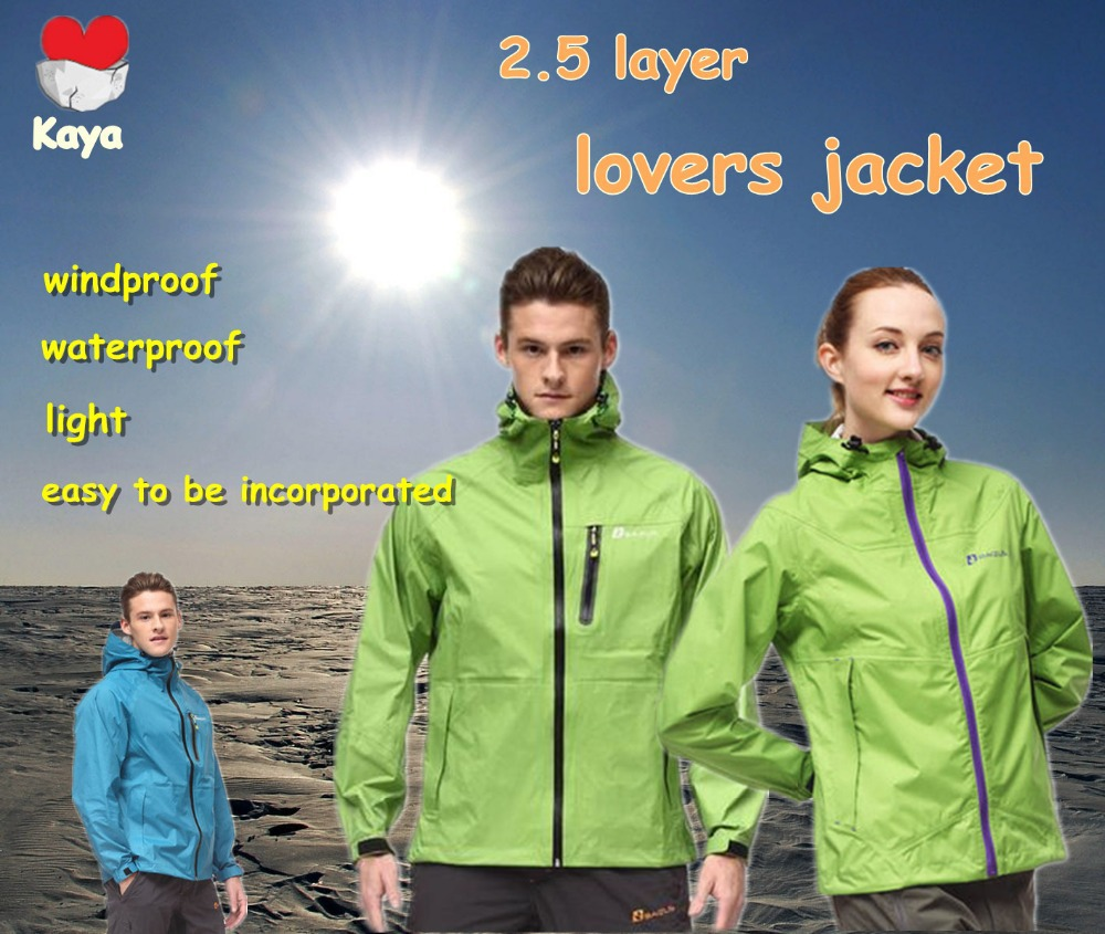 mens lovers outdoor waterproof windproof oil-proof antifouling 2.5 sigle layer spring camping hiking jacket B-CMP-0001<br><br>Aliexpress
