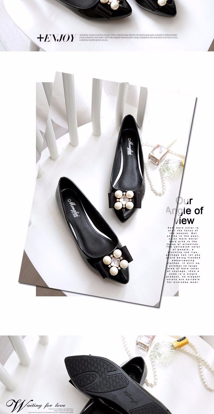 New 2016 Women Spring Summer Shoes Diamond Buckle Low Heel Pump Female Single Shoes Fashion Lady Shoes Large Size 40-45 z3.5