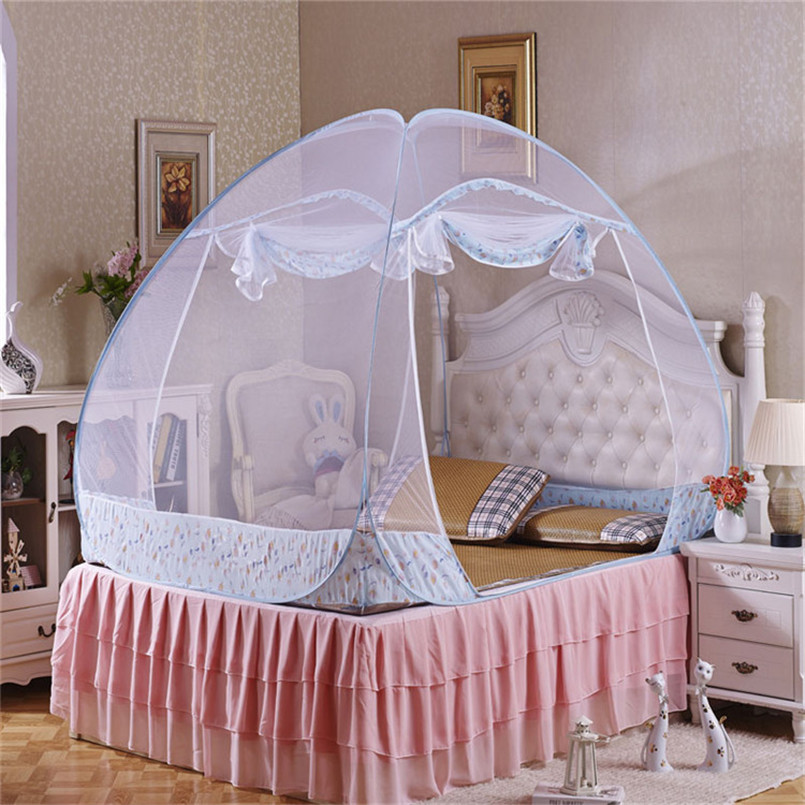 Bed Canopies For Adults Part - 50: Mosquito Net Hot 1pcs Elegant Round Lace Insect Bed Canopy Netting Curtain  Dome Mosquito Net Worldwide