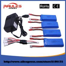 Hot Sell 7.4 V 1200mAh 4pcs Li-po Batteria per WLtoys V262 Quadcopter Drone V666 V353 V333 V323 Free Shipping