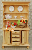 1/12 Dollhouse Miniature Furniture Delicate 3 Layer Showcase/Cabinet with Drawers wood color WL016D Free Shipping