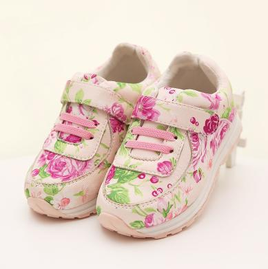 2015 new fashion flower print sneaker girls high top sports shoes children spring and autumn casual cute shoes anti-slip(China (Mainland))