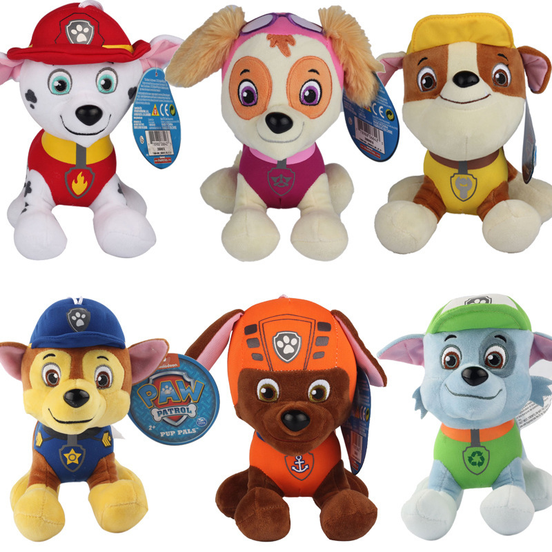Kawaii Patrol Toys Plush 20-30cm Cartoon Plush Doll Dog Puppy Patrol Children Toy Patrulha Canina Stuffed & Plush Animals(China (Mainland))