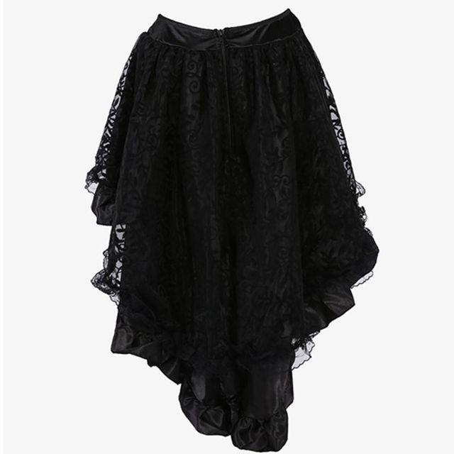 Black Lace Skirt Plus Size Women Clothing
