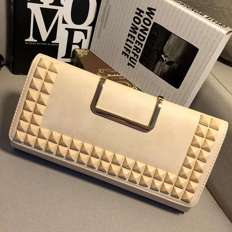 Hot 2015 summer beach bag punk rivets envelop bag purse fashion women evening bags long strap shoulder bags w377(China (Mainland))