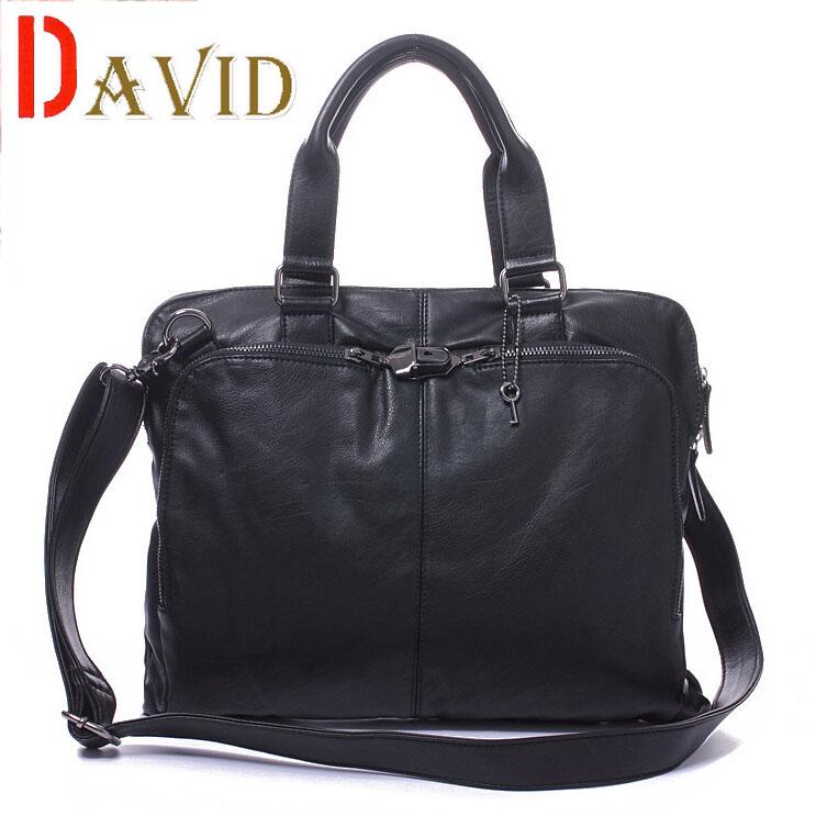 Hot Sell Men's  Fashion Soft Leather Handbag Travel Leisure Shoulder bag Star Quality  V3G70