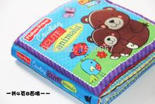 1pcs/lot Winnie count infant baby educational toys ring paper cloth book Pillow Storybook,Cloth books, Parenting English Version(China (Mainland))