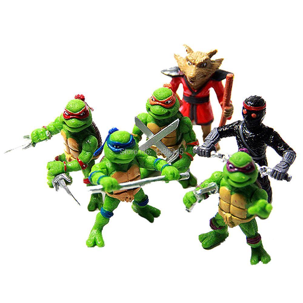 Juguetes Brinquedos tmnt neca toys 6Pcs 2 inch Mini Teenage Mutant Ninja Turtles TMNT Figures Action Toy Collection Kids Toy Set(China (Mainland))