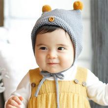 2015 New Baby Boy Girl Infant Toddler Cute Soft Crochet Hat Beanie Warm Newborn Cap Kid Christmas Gift(China (Mainland))