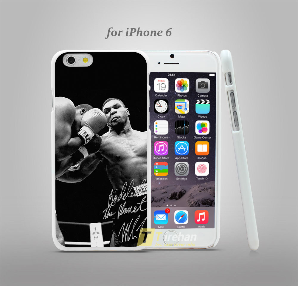 hf61 tyson punch ring boxing sports dark Hard White Plastic Skin Coque Case Cover for iPhone 4 4s 4g 5 5s 5g 5c 6 6 Plus(China (Mainland))
