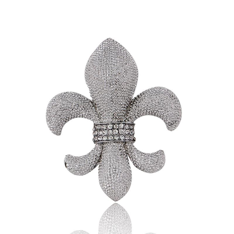 Fashion broches Luxury Banquet Accessories silver plated Anchors Brooch jewelry Charm rhinestone brooch pin for women