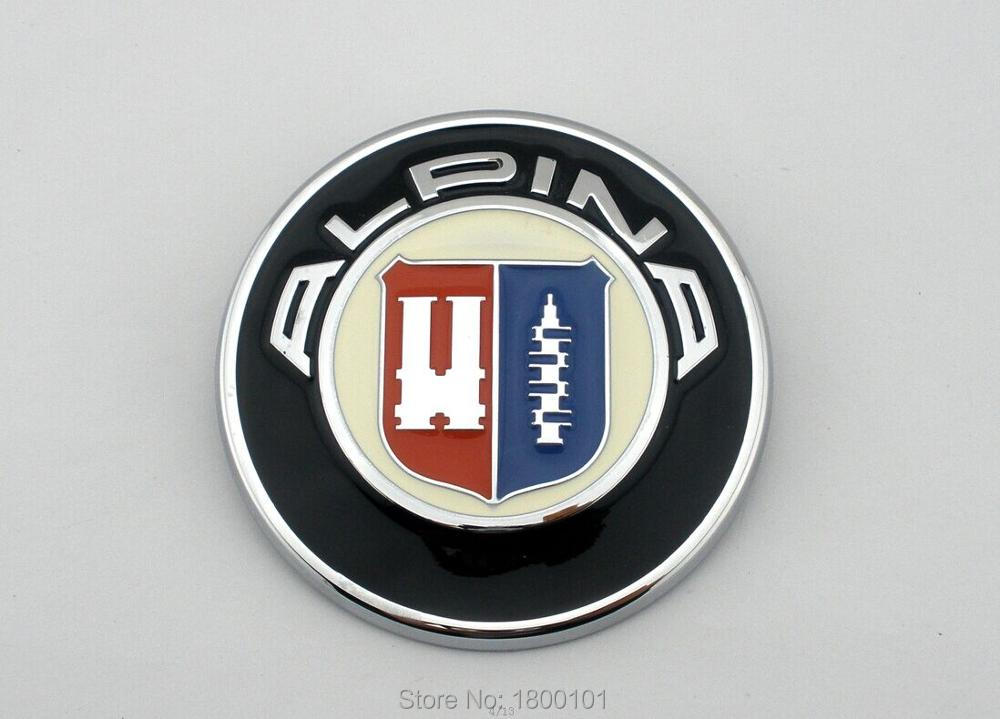 "Auto head tail badges modified car steering wheel emblem for BMW ""ALPIAN"" car tyre decoration logo stickers free shipping(China (Mainland))"