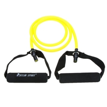 Buy Natural Rubber Latex Fitness Resistance Tube Resistance Rope Elastic Exercise Band Yoga Pilates Workout (Yellow, 20lb) for $5.13 in AliExpress store