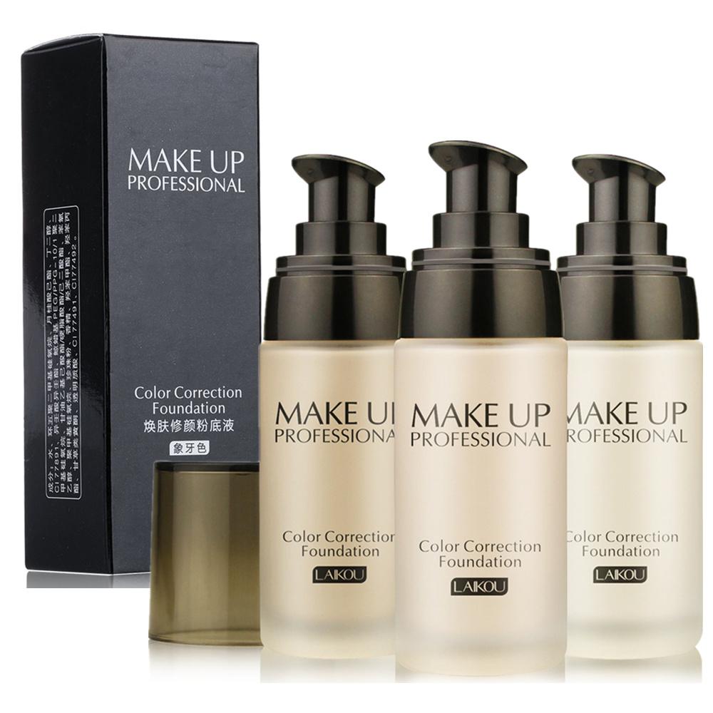 Pro Make Up Correction Foundation Lasting Finish 24 Hour Moisture Isolation Waterproof Cosmetic Makeup Foundation Skin Care(China (Mainland))