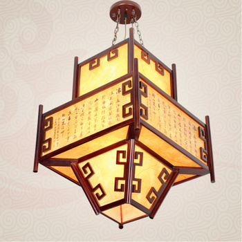 Chinese style pendant light living room lights solid wood antique lanterns classical lantern hallway lights lamps restaurant