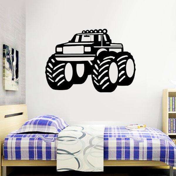 Grote vrachtwagen muurstickers jongens kamer decoratie muurstickers zeggen citaat woord - Decoratie kamer slapen schilderij ...